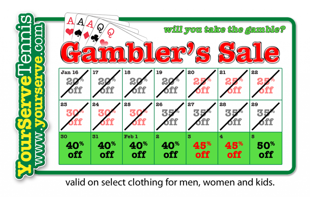 YST Gambler's Sale Hits Last Week - Save 40% Now
