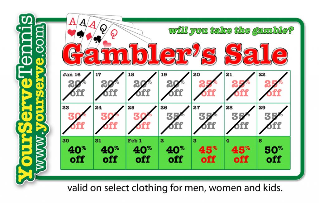 YST Gambler's Sale Hits Last Week - Save 40% Now