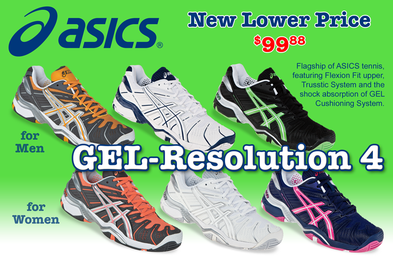 Asics Gel-Resolution 4 - New Lower Price - $99.88